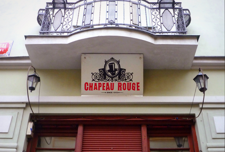 Chapeau Rouge, Sign, Prague, 2013