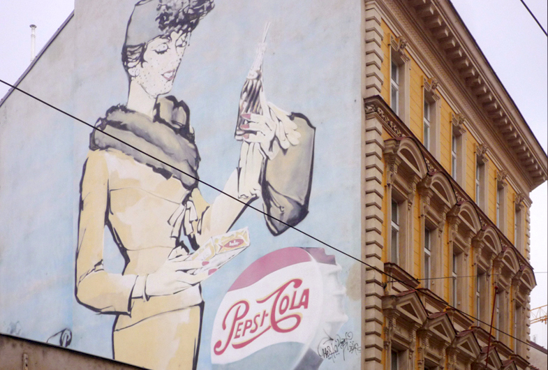 Pepsi-Cola, Vintage Advertising, Prague, 2013